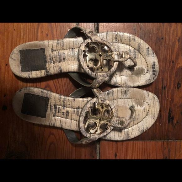 Tory Burch Shoes - Tory Burch Miller 2 Snake Print Sandals
